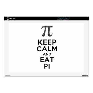 Keep Calm And Eat Pi Phrase Math Humor Laptop Decals