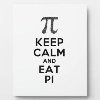 Keep Calm And Eat Pi Phrase Math Humor Plaque