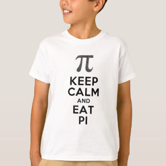 Keep Calm And Eat Pi Phrase Math Humor T-Shirt