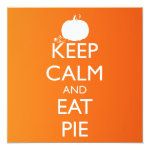 KEEP CALM AND EAT PIE CARD