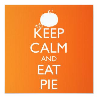KEEP CALM AND EAT PIE CARD