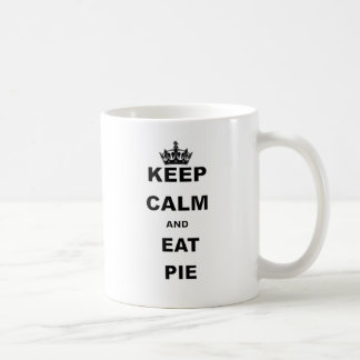 KEEP CALM AND EAT PIE COFFEE MUG
