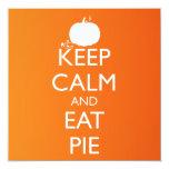 KEEP CALM AND EAT PIE CUSTOM INVITATIONS