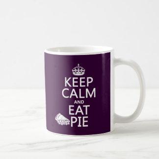 Keep Calm and Eat Pie (customize colors) Coffee Mug