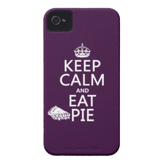 Keep Calm and Eat Pie (customize colors) iPhone 4 Case