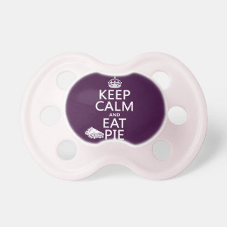 Keep Calm and Eat Pie (customize colors) Baby Pacifier