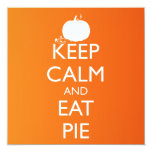 KEEP CALM AND EAT PIE 5.25X5.25 SQUARE PAPER INVITATION CARD