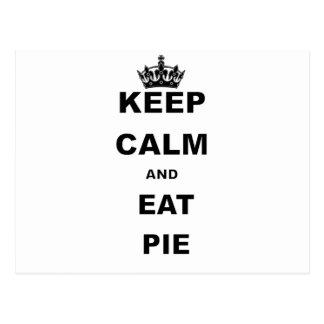 KEEP CALM AND EAT PIE POSTCARD