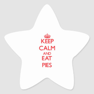 Keep calm and eat Pies Star Stickers