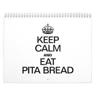 KEEP CALM AND EAT PITA BREAD WALL CALENDAR