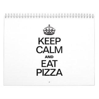 KEEP CALM AND EAT PIZZA CALENDAR
