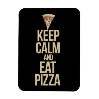 Keep calm and eat pizza rectangular photo magnet