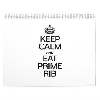 KEEP CALM AND EAT PRIME RIB CALENDAR