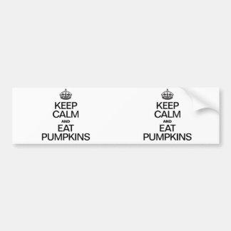 KEEP CALM AND EAT PUMPKINS BUMPER STICKERS