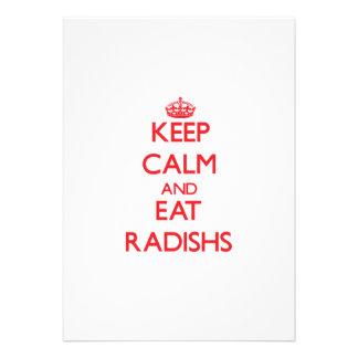 Keep calm and eat Radishs Invites