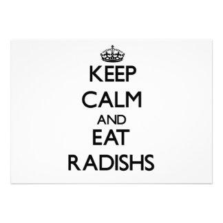 Keep calm and eat Radishs Personalized Invitation