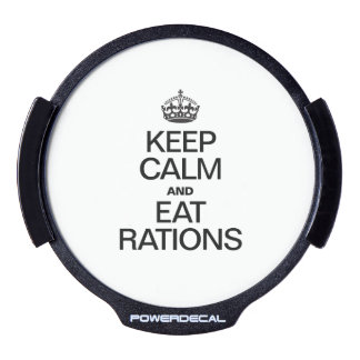 KEEP CALM AND EAT RATIONS LED WINDOW DECAL
