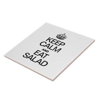 KEEP CALM AND EAT SALAD CERAMIC TILES