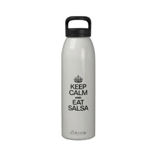 KEEP CALM AND EAT SALSA DRINKING BOTTLES