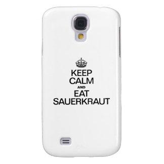 KEEP CALM AND EAT SAUERKRAUT SAMSUNG GALAXY S4 CASE