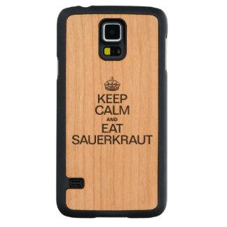 KEEP CALM AND EAT SAUERKRAUT CARVED® CHERRY GALAXY S5 CASE