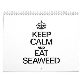 KEEP CALM AND EAT SEAWEED.ai Calendar