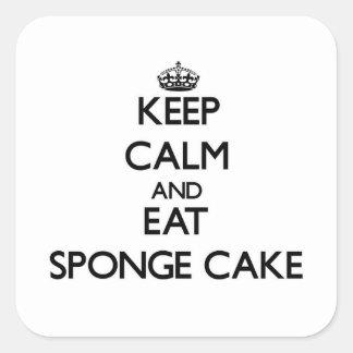 Keep calm and eat Sponge Cake Stickers