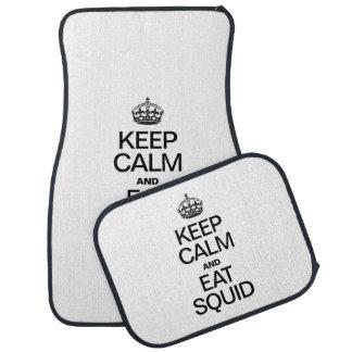 KEEP CALM AND EAT SQUID FLOOR MAT