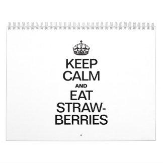 KEEP CALM AND EAT STRAWBERRIES.ai Calendar