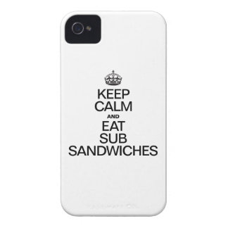 KEEP CALM AND EAT SUB SANDWICHES iPhone 4 CASE