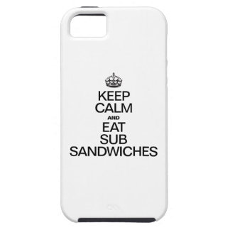 KEEP CALM AND EAT SUB SANDWICHES iPhone SE/5/5s CASE