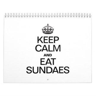 KEEP CALM AND EAT SUNDAES.ai Calendar