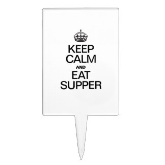 KEEP CALM AND EAT SUPPER CAKE PICKS