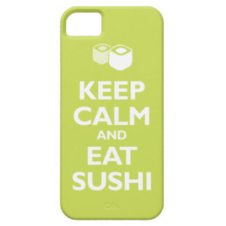 Keep Calm and Eat Sushi (citrus) iPhone SE/5/5s Case