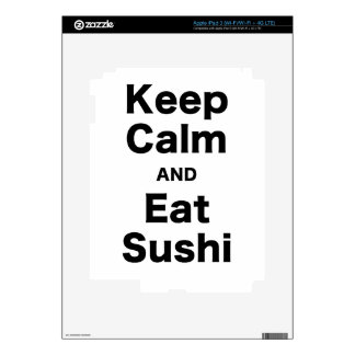 Keep Calm and Eat Sushi Decals For iPad 3