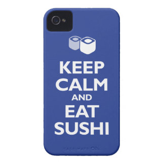 Keep Calm and Eat Sushi (reflex blue) iPhone 4 Case