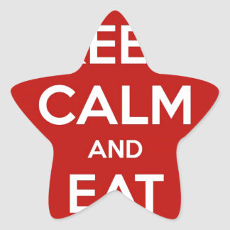 Keep Calm and Eat Sushi Star Sticker