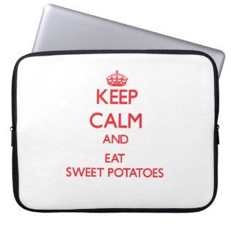 Keep calm and eat Sweet Potatoes Laptop Sleeve