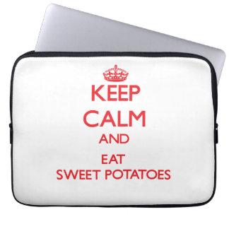 Keep calm and eat Sweet Potatoes Computer Sleeve