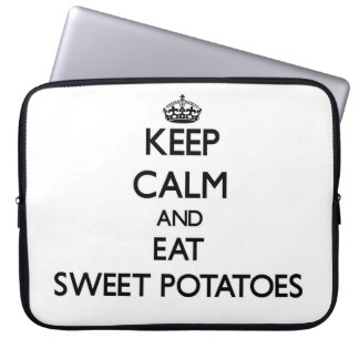 Keep calm and eat Sweet Potatoes Laptop Computer Sleeves