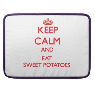 Keep calm and eat Sweet Potatoes MacBook Pro Sleeves