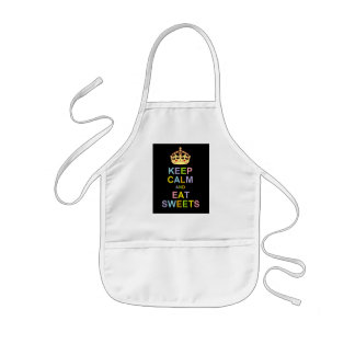 Keep Calm and Eat Sweets Kids' Apron