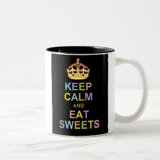 Keep Calm and Eat Sweets Two-Tone Coffee Mug