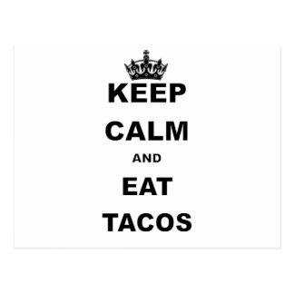 KEEP CALM AND EAT TACOS POSTCARD