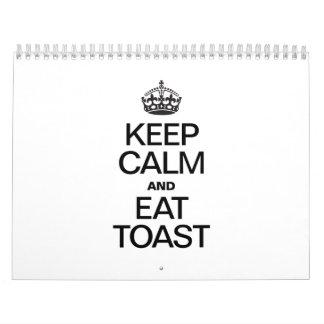 KEEP CALM AND EAT TOAST.ai Calendar