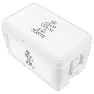 KEEP CALM AND EAT TORTE IGLOO CHEST COOLER