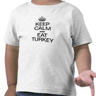 KEEP CALM AND EAT TURKEY TEE SHIRT