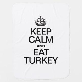 KEEP CALM AND EAT TURKEY RECEIVING BLANKET