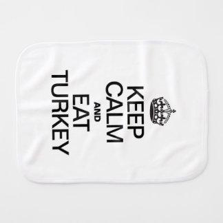 KEEP CALM AND EAT TURKEY BURP CLOTHS