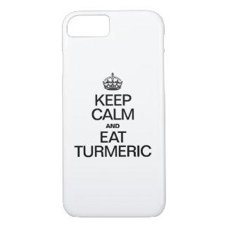 KEEP CALM AND EAT TURMERIC iPhone 7 CASE